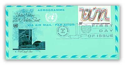 22c Aerogramme 1977