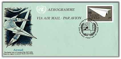 30c Aerogramme 1982
