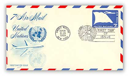 7c Air Envelope 6 3/4 1959