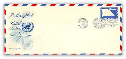 7c Air Envelope #10 1959