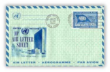 10c Air Letter Sheet 1960