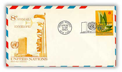 8c Air Envelope 6 3/4 1963