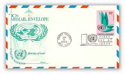 1969 10c Air Envelope 6 3/4 69