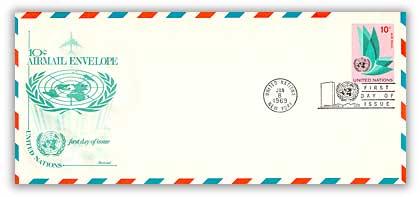 10c Air Envelope #10 1969