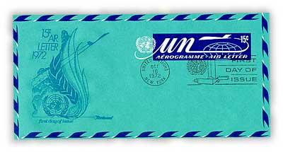 15c Aerogramme 1972