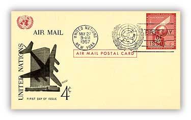 4c Air Post Card 1957