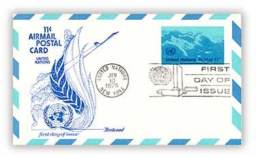 11c Air Post Card 1975