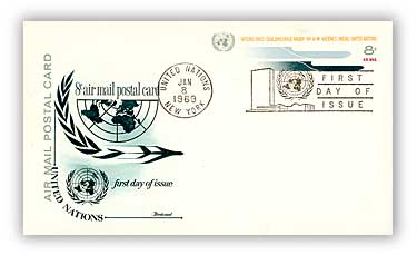 8c Air Post Card 1969
