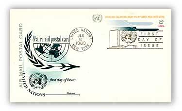 8c Air Post Card 1969