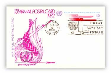 15c Air Post Card 1972