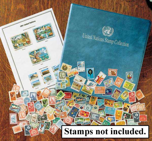 1951-Present Mystics United Nations Stamp Collection Album, Includes NY, Vienna & Geneva