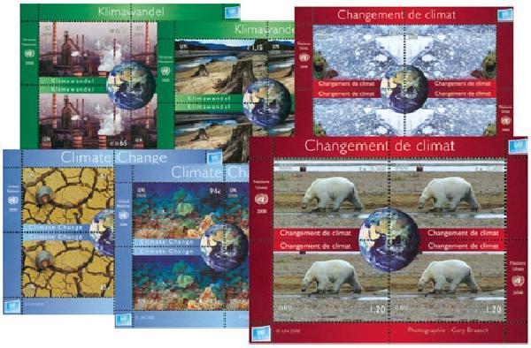 2008 UN Climate Change 6 sheetlets