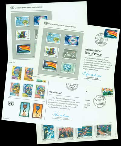 United Nations Souvenir Cards, 25v