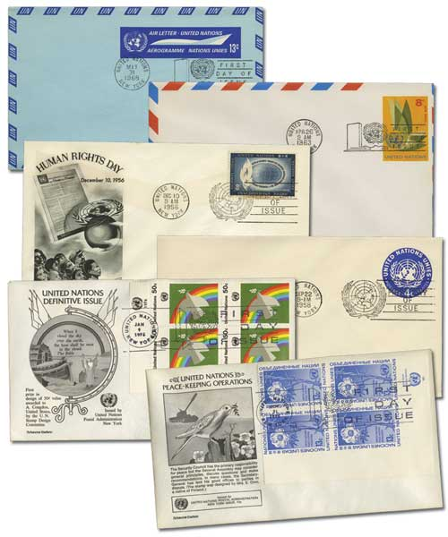One Pound of UN Covers, 1950 to present