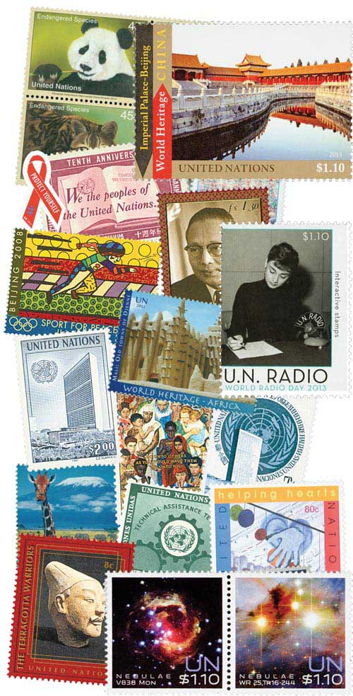 1951-2013 United Nations New York Mint Collection,   1121 Stamps and 21 S/S
