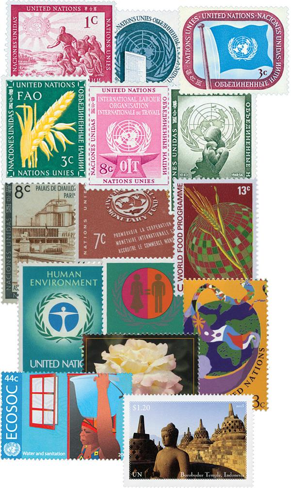 1951-2016 United Nations New York Collection, 1256 Mint Stamps and free Album