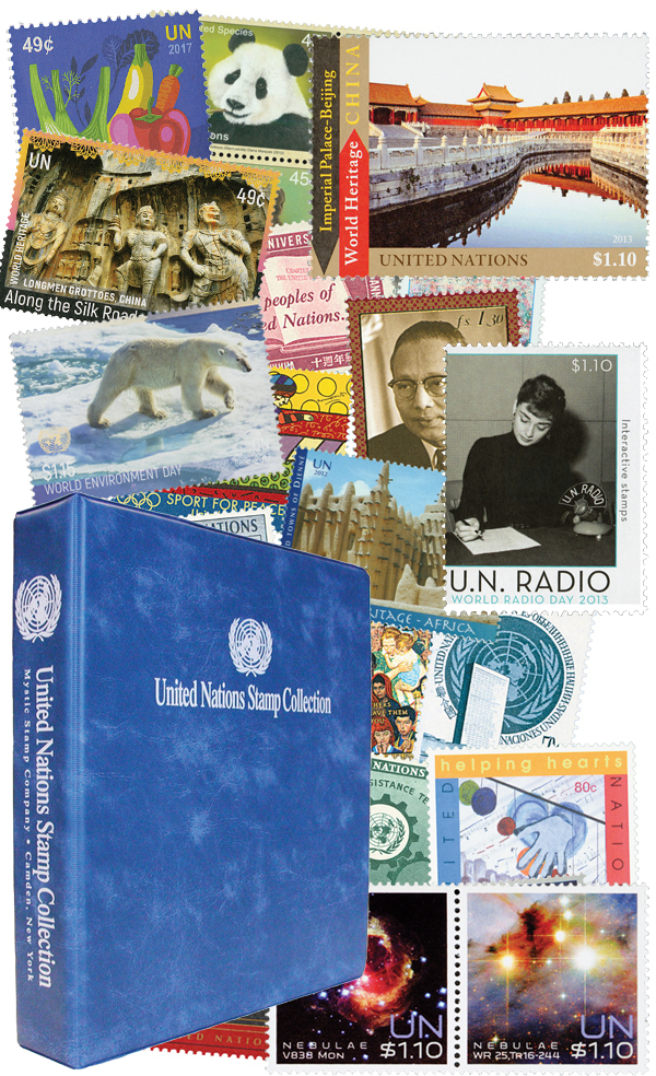1951-2017 UN New York Collection, 1289V with free Album
