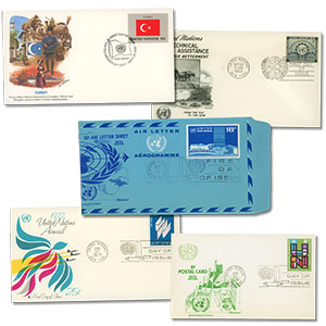 United Nations First Day Cover Collection, Set of 50 Covers