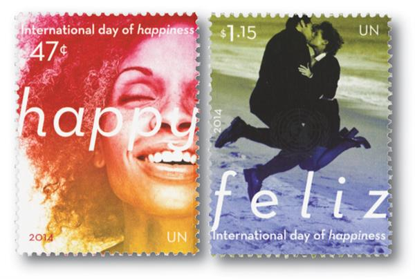 2014 47c & $1.15 Intl Day of Happiness