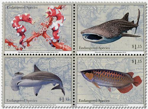 2014 $1.15 Endangered Species Block/4