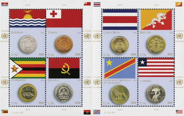 2015 UNNY $.49 Coin and Flag series