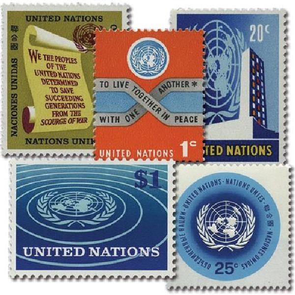1965-66 Complete set of 5 Definitives