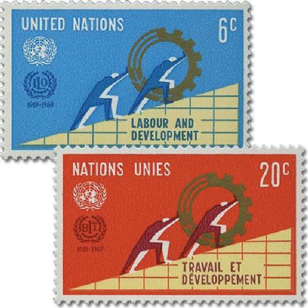 1969 Intl Labor Oranization, 50th Anniv.