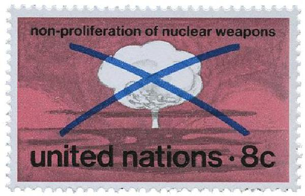 1972 8c Non-prolif. of Nuclear Weapons