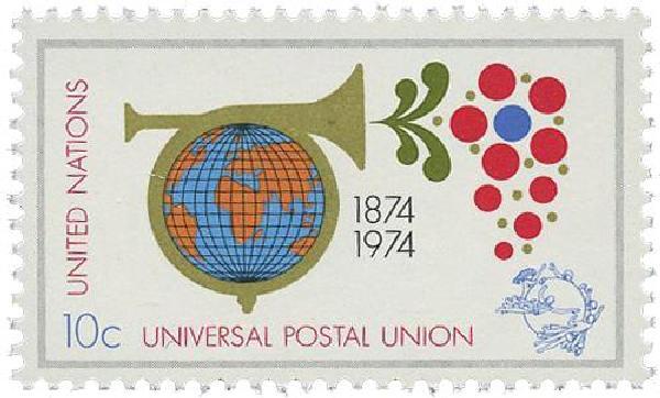 1974 10c Centenary-Univl. Postal Union