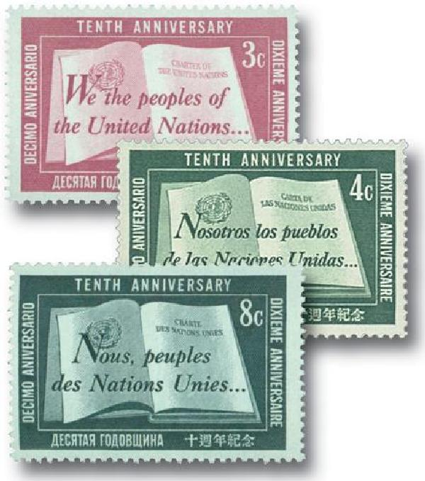 1955 United Nations 10th Anniversary