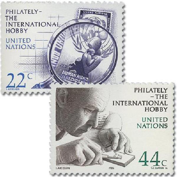 1986 Human Rights/Stamp Collecting