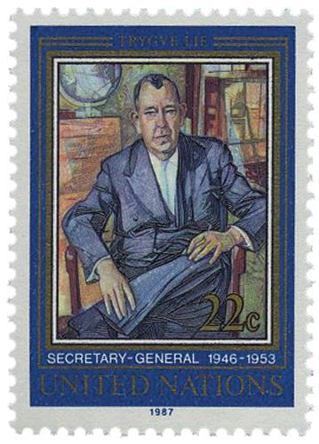 1987 First Secretary General,Trygue Lie