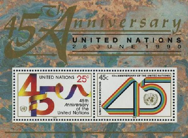 1990 United Nations 45th Anniversary,S/S