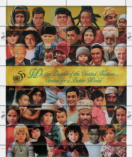 1995 United Nations 50th Anniv., shlt.