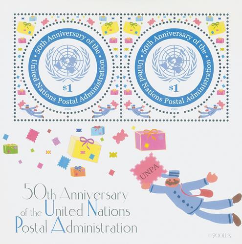 2001 UN Postal Admin. 50th Ann. S/S