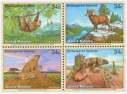 2002 Endangered Species, set of 4