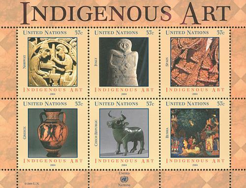 2004 Indigenous Art, 6 stamps