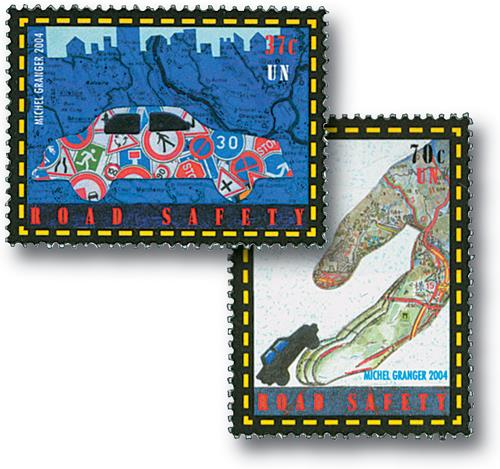 2004 Road Safety, 2 stamps