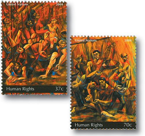 2004 Human Rights, 2 stamps