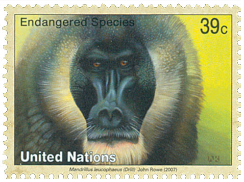 2007 39c UNNY Endangered - Drill Monkey