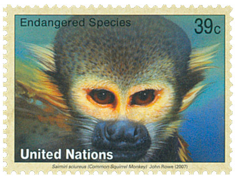 2007 39c UNNY Endanger-Squirrel Monkey