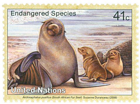 2008 41c UNNY Endager-Fur Seal