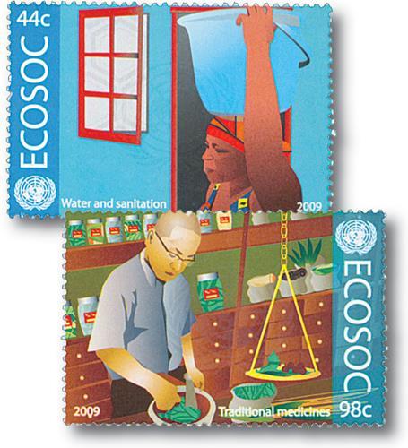 2009 UN NY 44c & 98c ECOSOC