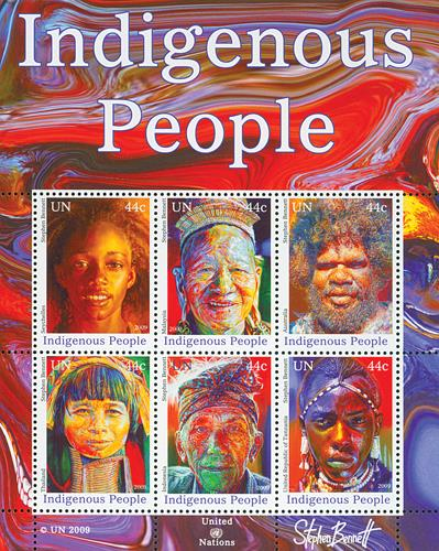 2009 44c Indigenous People Sheet of 6