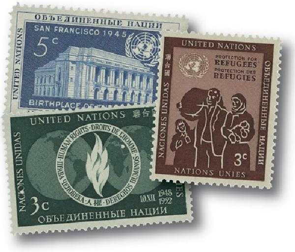 1952 United Nations New York Year Set