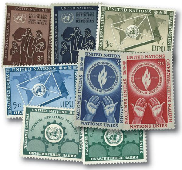 1953 United Nations New York Year Set