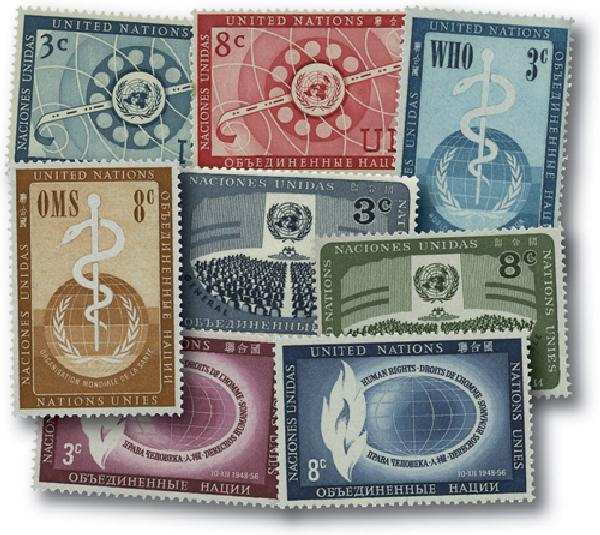1956 United Nations New York Year Set