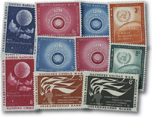 1957 United Nations New York Year Set