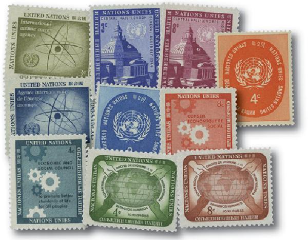 1958 United Nations New York Year Set