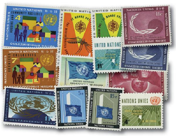 1962 United Nations New York Year Set